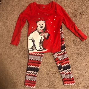 Carter's winter set - LS too + fleece leggings